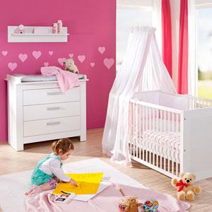 Chambre bébé complète lit + commode marlène