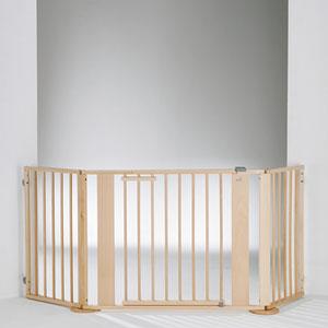 Barrière de sécurité pare-feu 100-180cm naturel