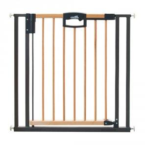 Barrière de sécurité easy lock wood + sans percer 68-76cm