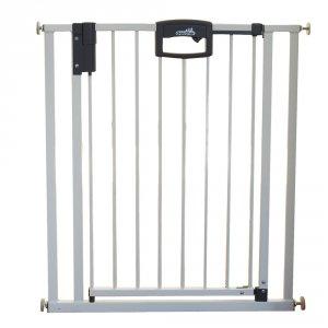 Barrière de sécurité easy lock + metal blanc sans percer 68-76cm