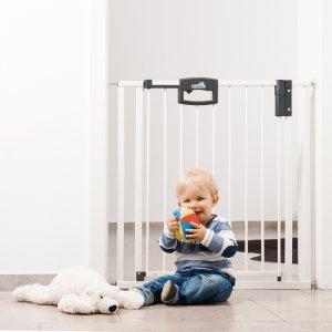 Geuther Barrière de sécurité easy lock + métal blanc sans percer 80,5-88,5 cm