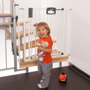 Geuther Barrière de sécurité easy lock + metal blanc sans percer 84.5 -92.5cm