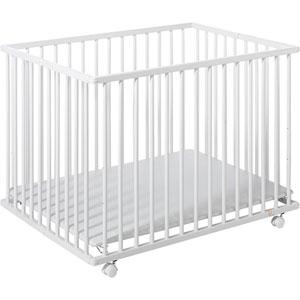 Parc bébé pliant cecile 75x102cm blanc