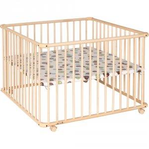 Parc bébé belami naturel 102x102cm fond pois