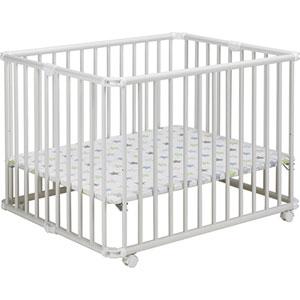 Parc bébé lucilee pliant blanc 80x102cm fond etoile