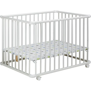 Parc bébé belami blanc/etoile 73x102cm