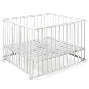 Parc bébé belami blanc/etoile 102x102cm