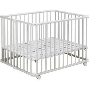 Parc bébé lucilee pliant blanc 94x102cm fond etoile