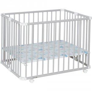 Geuther Parc bébé lucilee + pliant petit modèle gris clair fond prisme