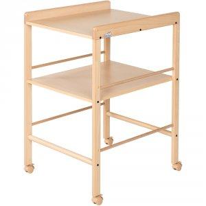 Table à langer avec 1 étagère naturel