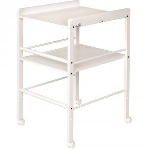 Table à langer avec 1 étagère blanc