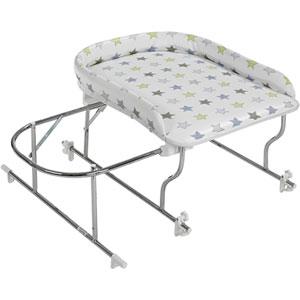 Table à langer combiné baignoire varix chrome/etoile