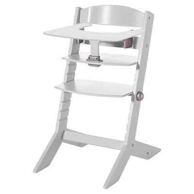 Chaise haute bébé syt avec plateau blanche Geuther
