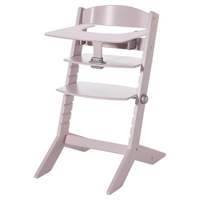Chaise haute bébé syt avec plateau rose Geuther