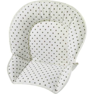 Coussin de chaise tissu pois marron Geuther