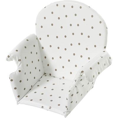 Coussin de chaise pvc avec rabat pois Geuther