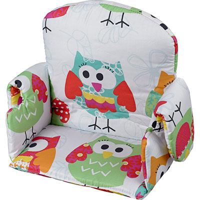 Coussin de chaise avec rabat tissu hibou Geuther