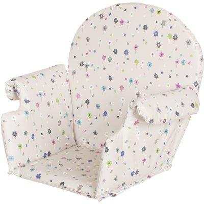 Coussin de chaise pvc avec rabats fleurs Geuther
