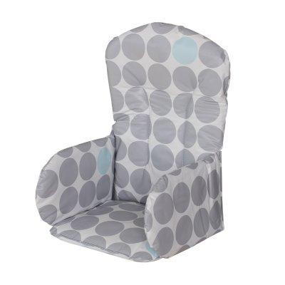 Coussin de chaise pvc pois gris Geuther