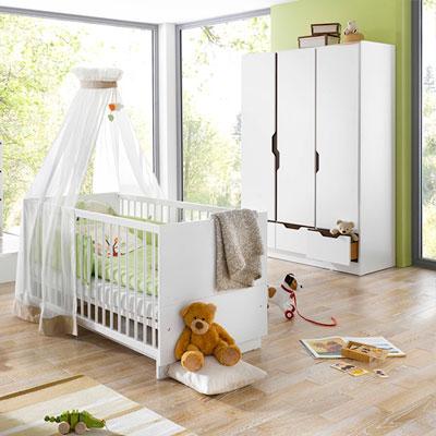 Chambre b b duo fresh lit et armoire 3 portes blanche - Voiture 3 portes et bebe ...
