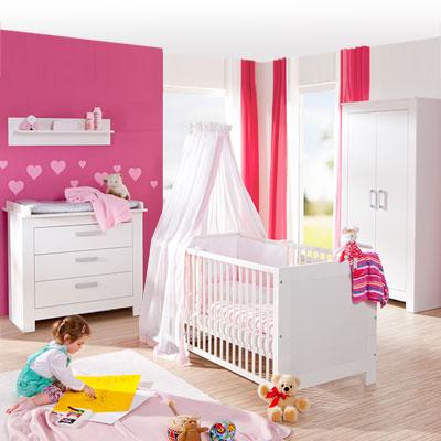 Chambre bébé trio marléne armoire 2 portes blanche Geuther