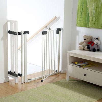 Kit escalier pour barrière easylock light métal blanc / argenté Geuther