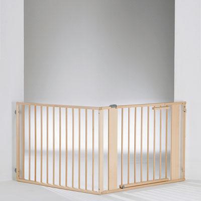 Barrière de sécurité pare-feu 120-180cm naturel Geuther