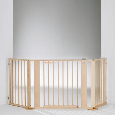 Barrière de sécurité pare-feu 100-180cm naturel Geuther