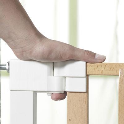 Barrière de sécurité vario safe 74,5-82,5 cm naturel blanc Geuther