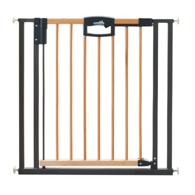 Barrière de sécurité easy lock wood + sans percer 68-76cm Geuther