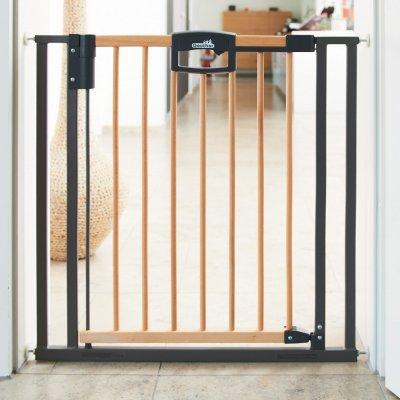 barri re de s curit easy lock wood sans percer 68 76cm de geuther sur allob b. Black Bedroom Furniture Sets. Home Design Ideas