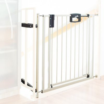 Barrière de sécurité easy lock + metal blanc sans percer 84.5 -92.5cm Geuther