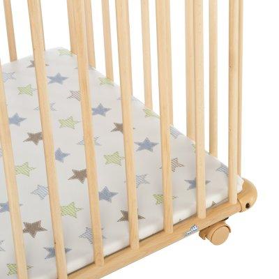 Parc bébé belami 73x102cm naturel étoile Geuther