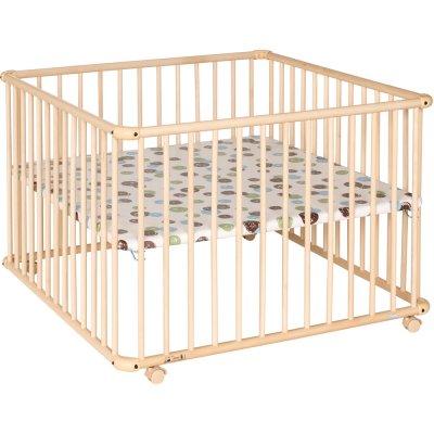 parc b b belami 102x102cm naturel pois de geuther sur. Black Bedroom Furniture Sets. Home Design Ideas