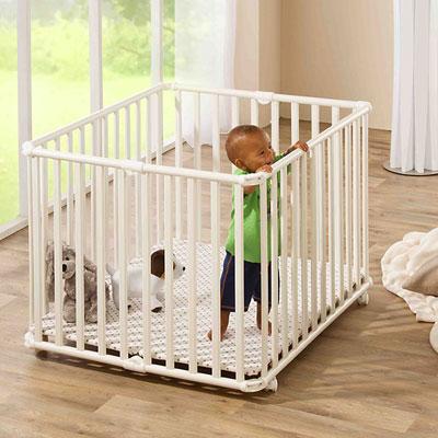 Parc bébé pliant ameli 101x85cm blanc étoile Geuther