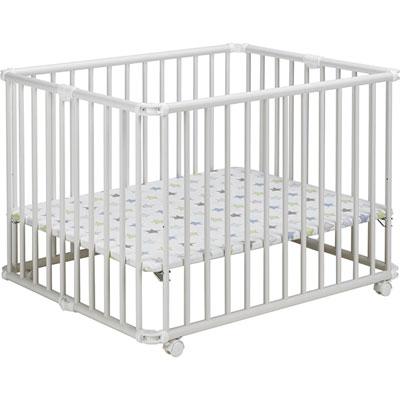 Parc bébé lucilee pliant blanc 80 x 102 cm fond etoile Geuther