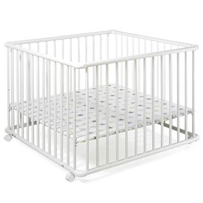 Parc bébé belami 102x102cm blanc étoile Geuther