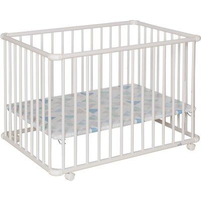 Parc bébé belami + petit modèle blanc fond prisme Geuther