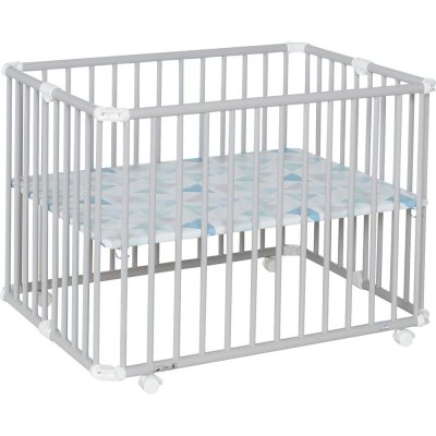 Parc bébé lucilee + pliant petit modèle gris clair fond prisme Geuther