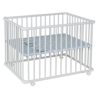 Parc bébé belami+ petit modèle gris clair fond lama Geuther