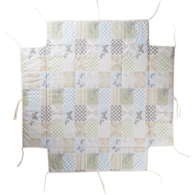 Tapis de parc avec bords carré patchwork papillon Geuther