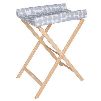 Table à langer pliable trixi naturelle pois gris Geuther