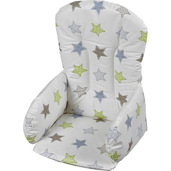 Coussin de chaise pvc etoile de geuther en vente chez cdm - Coussin reducteur chaise haute ...
