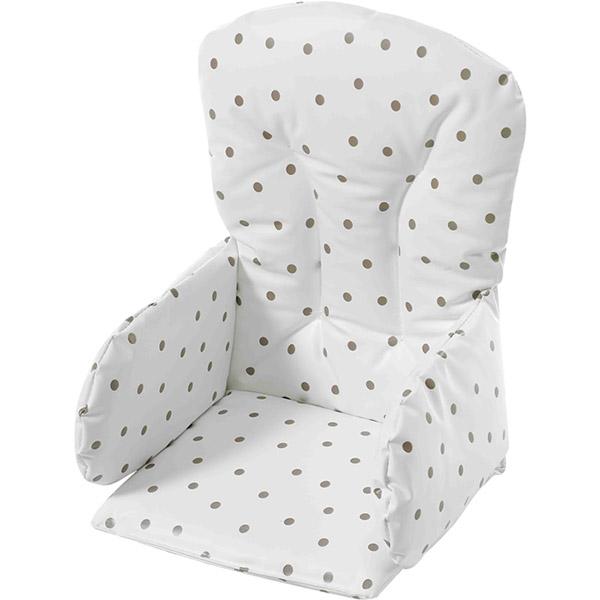 Coussin de chaise pvc pois 5 sur allob b for Coussin de chaise haute