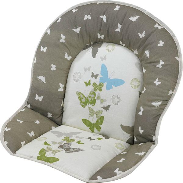 Coussin de chaise tissu papillon Geuther