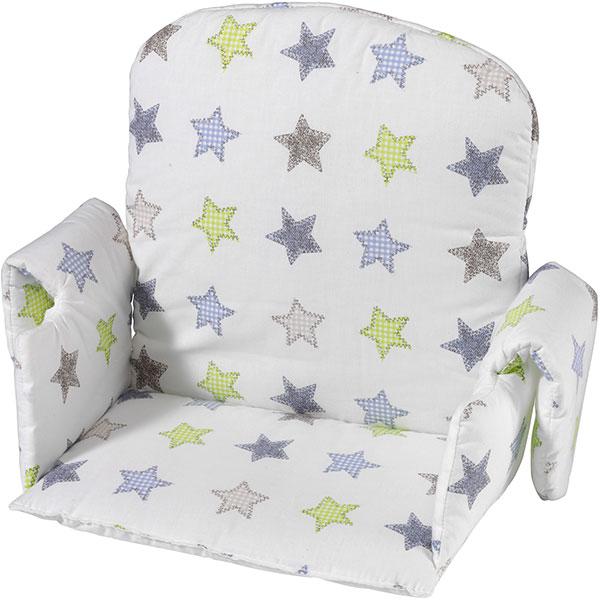 Coussin de chaise avec rabat tissu etoile Geuther