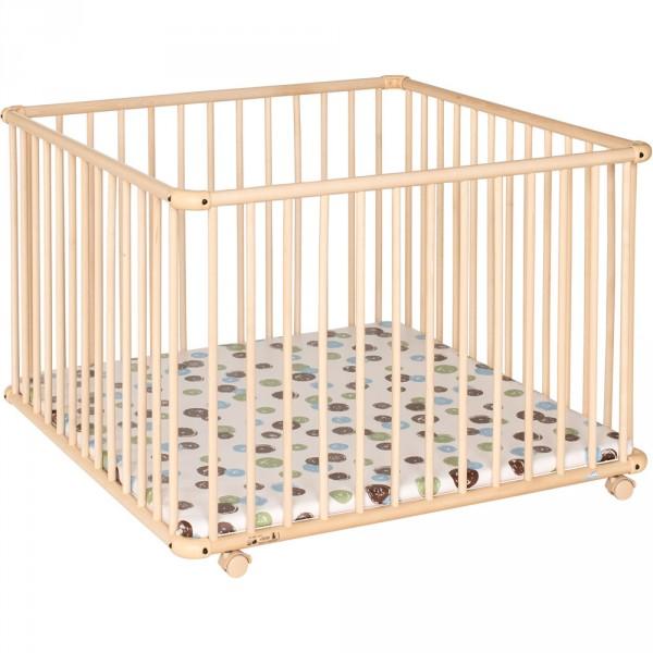 soldes parc b b belami 102x102cm naturel pois 30 sur allob b. Black Bedroom Furniture Sets. Home Design Ideas