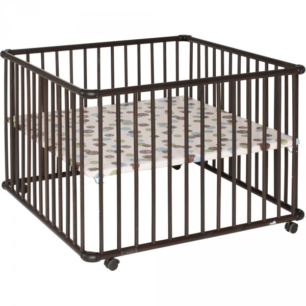 Parc bébé belami wenge 102 x 102 cm fond pois Geuther