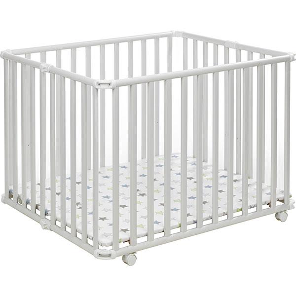Parc bébé pliant ameli 101 x 85 cm blanc etoile Geuther