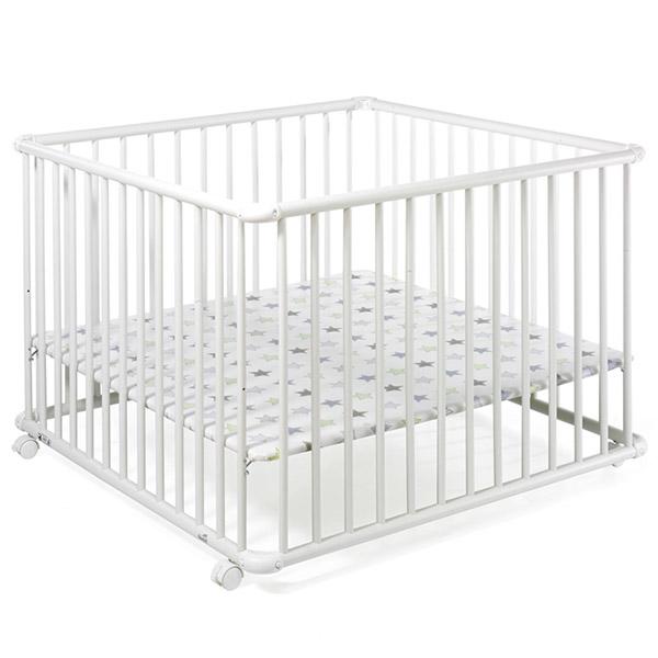 Parc bébé belami 102 x 102 cm blanc etoile Geuther